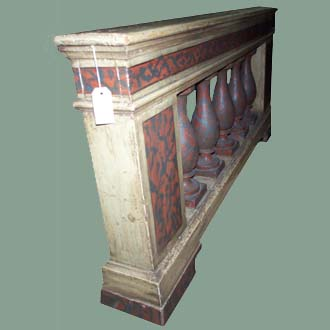 ANTIQUE HANDPAINTED BALUSTRADE