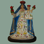 VINTAGE HAND-SCULPTED RESIN OUR LADY OF THE NATIVITY; PATRON OF TIXTLA, GUERRERO, MEXICO