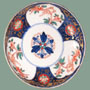 ANTIQUE RED WITH GOLD FLOWERS IMARI BOWL